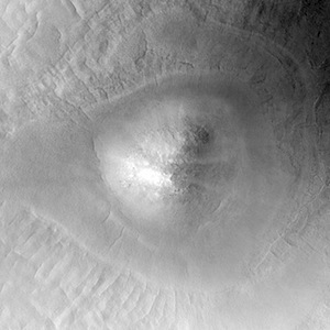 mound in northern plains crater Mars