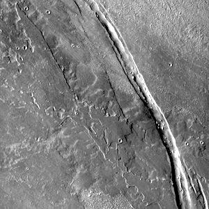 Cyane Fossae lava flows