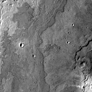 Lava flows near Adams Crater