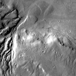 Semeykin Crater channels