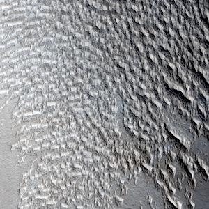 pits in Sinai Planum, Mars