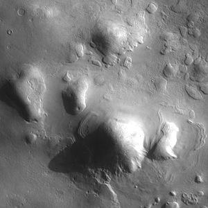 Mantled ground of Protonilus Mensae (THEMIS_IOTD_20140704)
