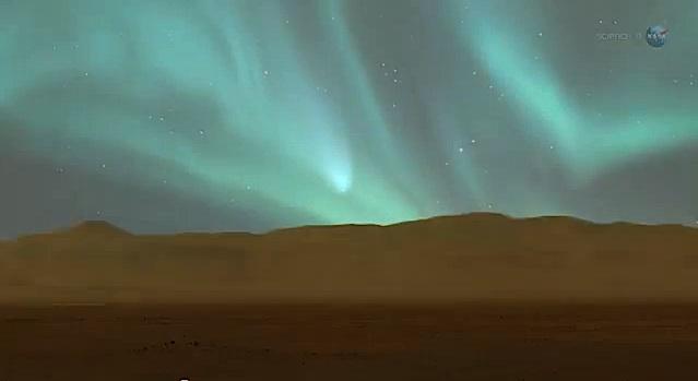 Colliding Atmospheres Mars Vs C Siding Spring Red