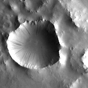 Dark slope streaks in Terra Sabaea (THEMIS_IOTD_20140829)