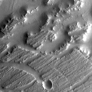 Nilus Mensae in Kasei Valles (THEMIS_IOTD_20140904)