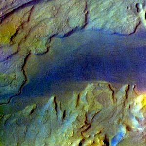 Deep eroded channel in Kasei Valles (THEMIS_IOTD_20150107)