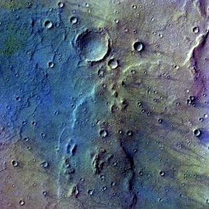 Gusev Crater false color ((THEMIS_IOTD_20150119)