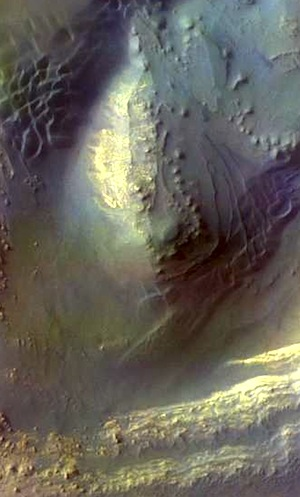 Ganges Chasma false color (THEMIS_IOTD_20150224)