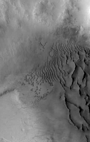 Active dune field in a crater (THEMIS_IOTD_20150521)