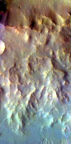 Tyrrhena Terra false color (THEMIS_IOTD_20150731)