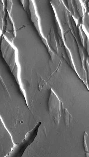 Fractures in Ceraunius Fossae (THEMIS_IOTD_20150904)