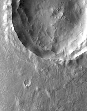 Rampart crater in Arcadia (THEMIS_IOTD_20150903)