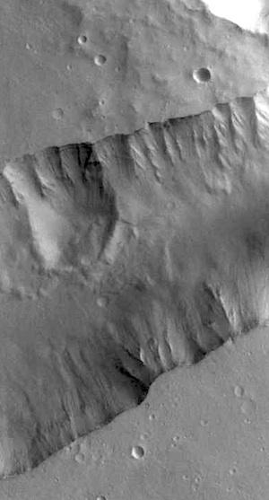 Slides in Shalbatana Vallis (THEMIS_IOTD_20151125)