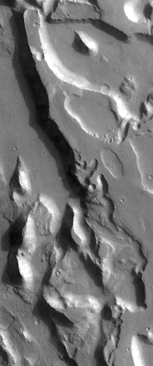 Multiple floods in Ares Vallis THEMIS_IOTD_20160224)