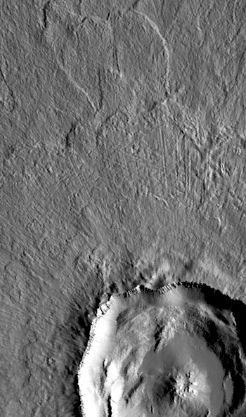 Steinheim, textbook crater in Arcadia (THEMIS_IOTD_20160524)