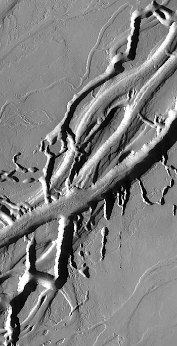 Tangled lava channels in Olympica Fossae (THEMIS_IOTD_20160715)