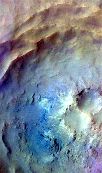 Noachis Terra crater in false color (THEMIS_IOTD_20160902)
