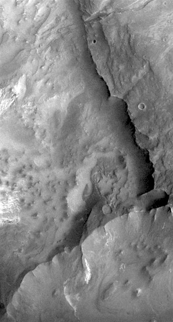 Canyon wall and debris in Melas Chasma (THEMIS_IOTD_20161205)