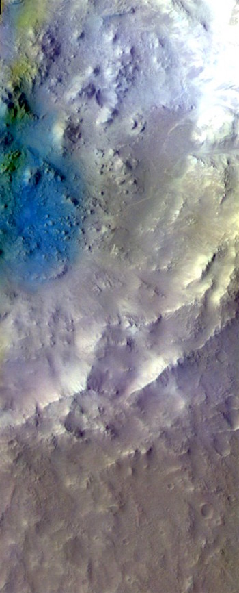 Arabia Terra crater in false color (THEMIS_IOTD_20170321)