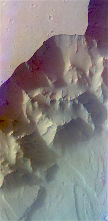 Canyon's edge in Ganges Chasma (THEMIS_IOTD_20170317)