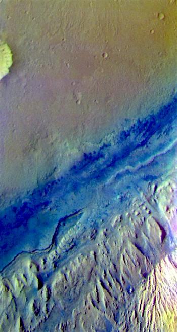 Gale Crater false color (THEMIS_IOTD_20170411)
