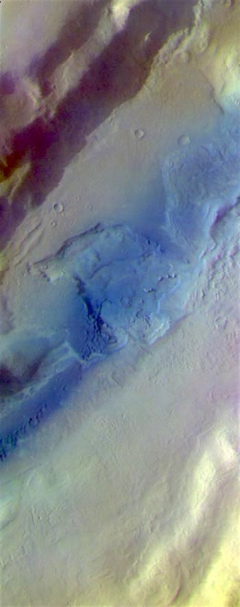 Tempe Fossae in false color (THEMIS_IOTD_20170414)