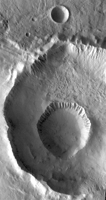 Two in one at Gasa Crater (THEMIS_IOTD_20170407)