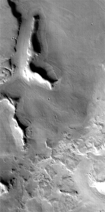 Ice-ringed mesas in Deuteronilus (THEMIS_IOTD_20170615)