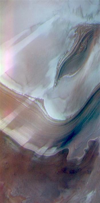 Northern ice cap edge in false color THEMIS Art #136 (THEMIS_IOTD_20170629)