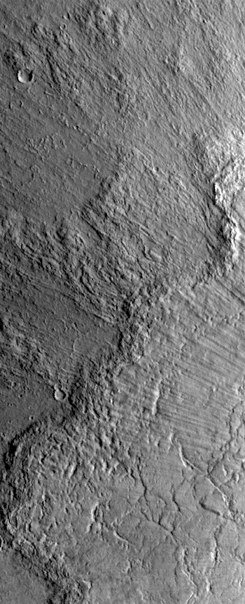 Multilayered ejecta at Bacolor (THEMIS_IOTD_20170719)