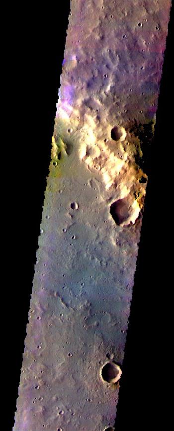 Newton Crater in false color (THEMIS_IOTD_20170724)