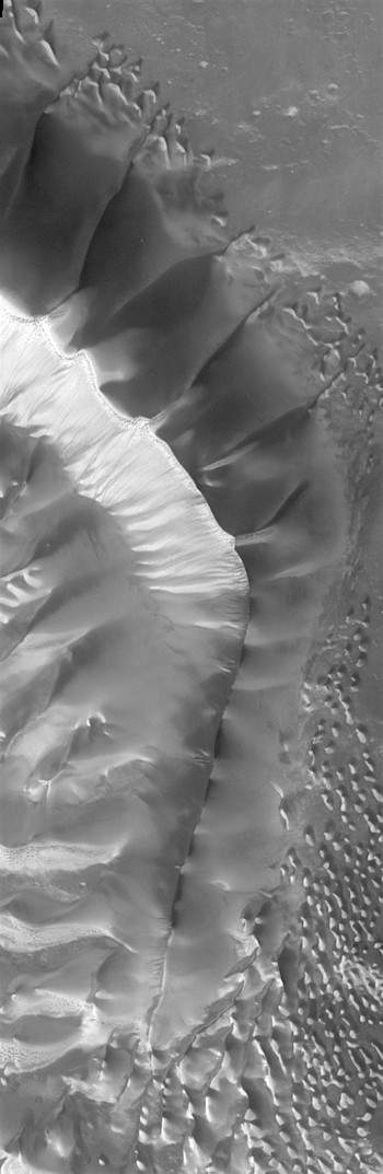 Dune ridge in Russell Crater (THEMIS_IOTD_20170810)