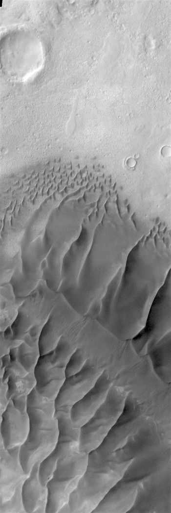 North end of sand ridge in Russell Crater (THEMIS_IOTD_20170803)