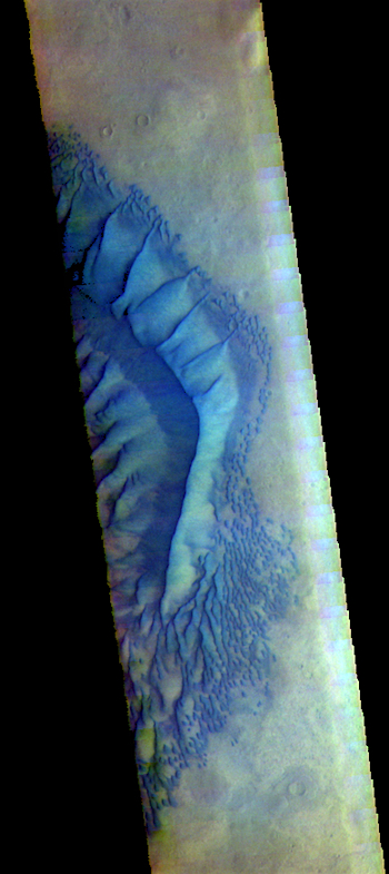 Russell Crater dune ridge in false color (THEMIS_IOTD_20170811)