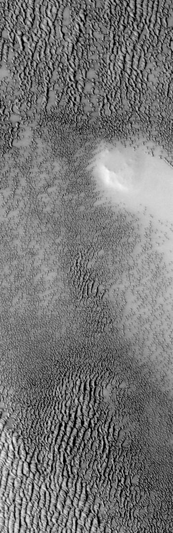 Hill amid the dunes of Siton Undae (THEMIS_IOTD_20170921)