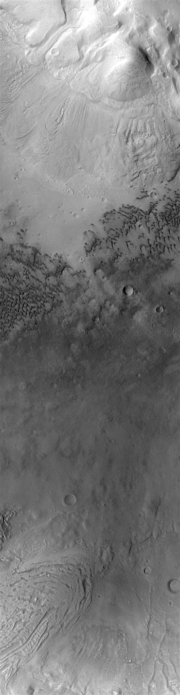 Glacial terrain in Moreux Crater (THEMIS_IOTD_20171117)