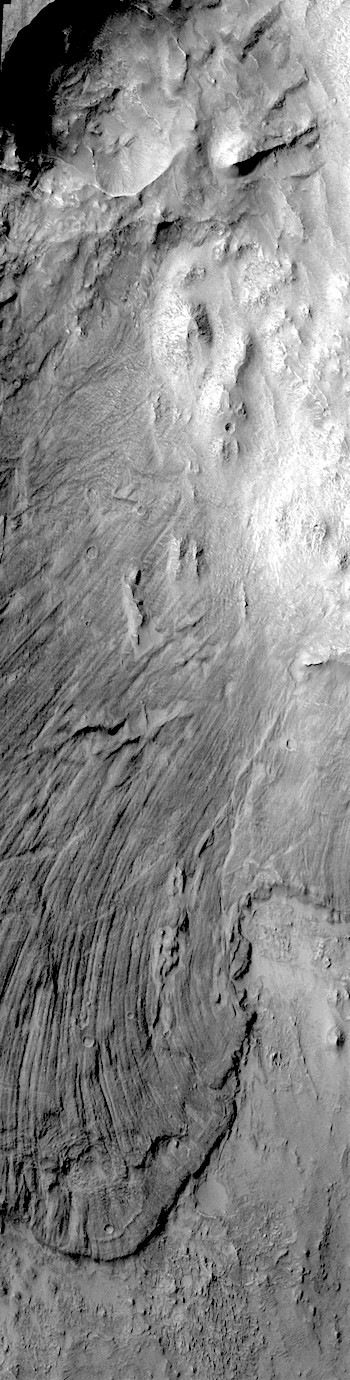Giant landslide in Melas Chasma canyon (THEMIS_IOTD_20171208)