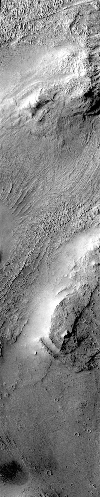 Hills and landslide debris on Melas Chasma floor (THEMIS_IOTD_20171201)