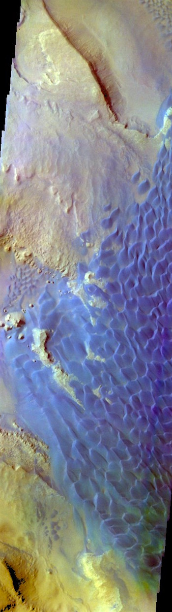 Rabe Crater dunes in false color (THEMIS_IOTD_20171219)