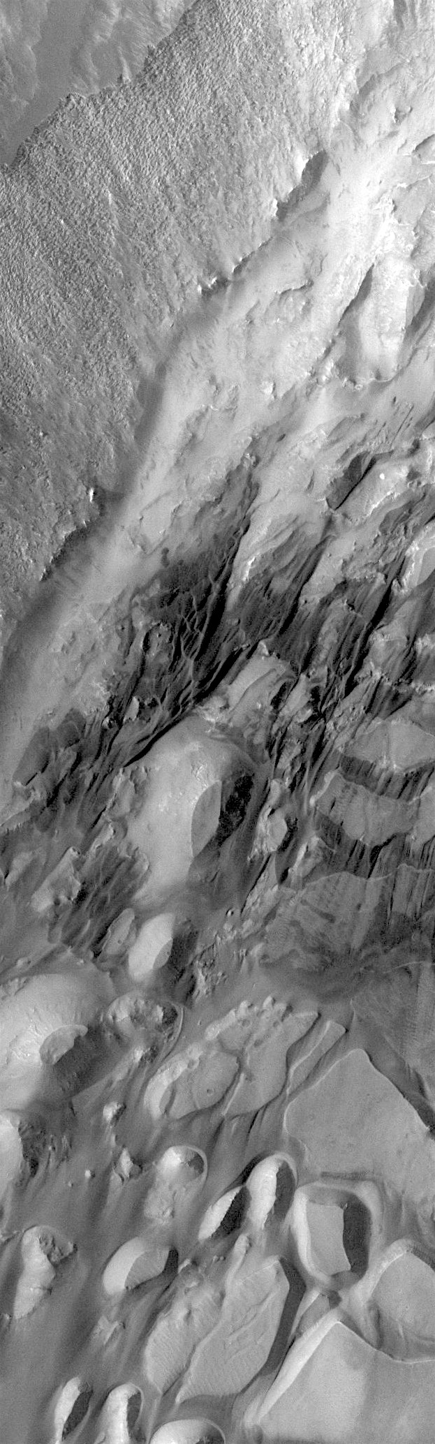 Chaotic terrain in Candor Chasma (THEMIS_IOTD_20180117)