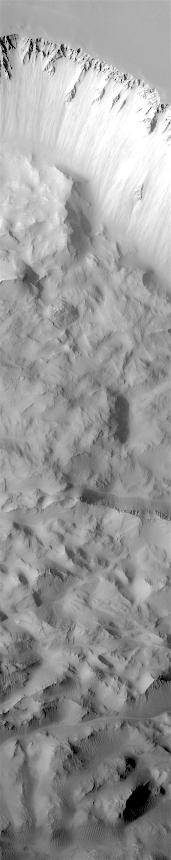 Canyon wall failure in Ius Chasma (THEMIS_IOTD_20180221)