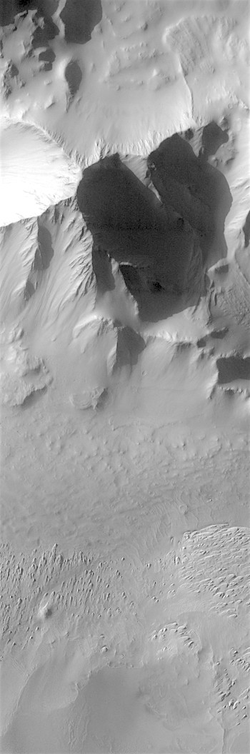 Eroding deposits on floor of Tithonium Chasma (THEMIS_IOTD_20180206)