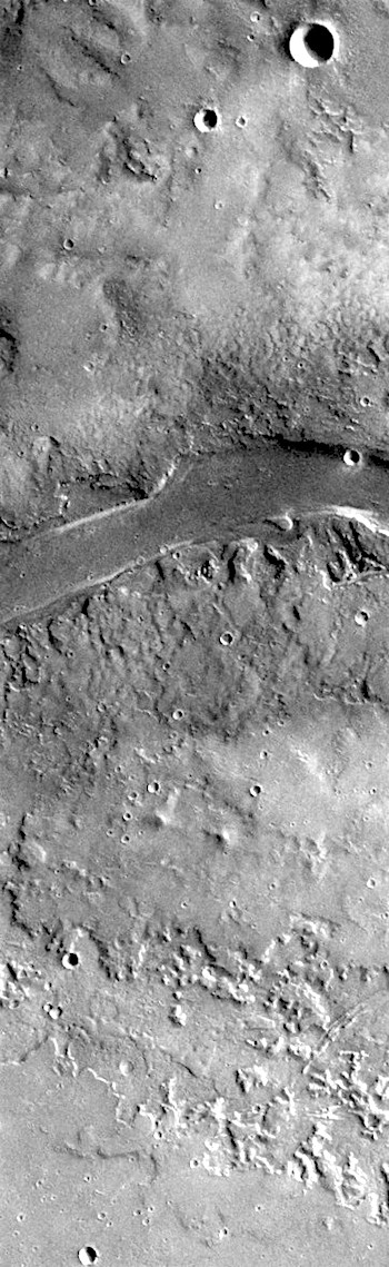 Channeled lands in Granicus Valles (THEMIS_IOTD_20180402)