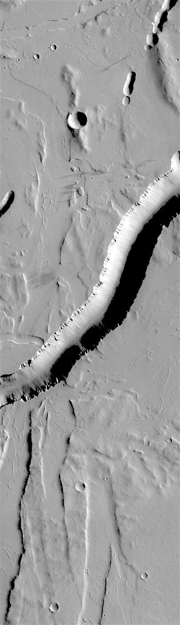 Channels cutting channels in Olympica Fossae (THEMIS_IOTD_20180412)