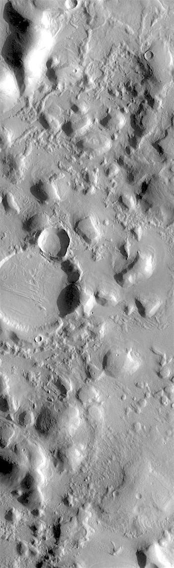 Bumpy hills of Arcadia Planitia (THEMIS_IOTD_20180621)