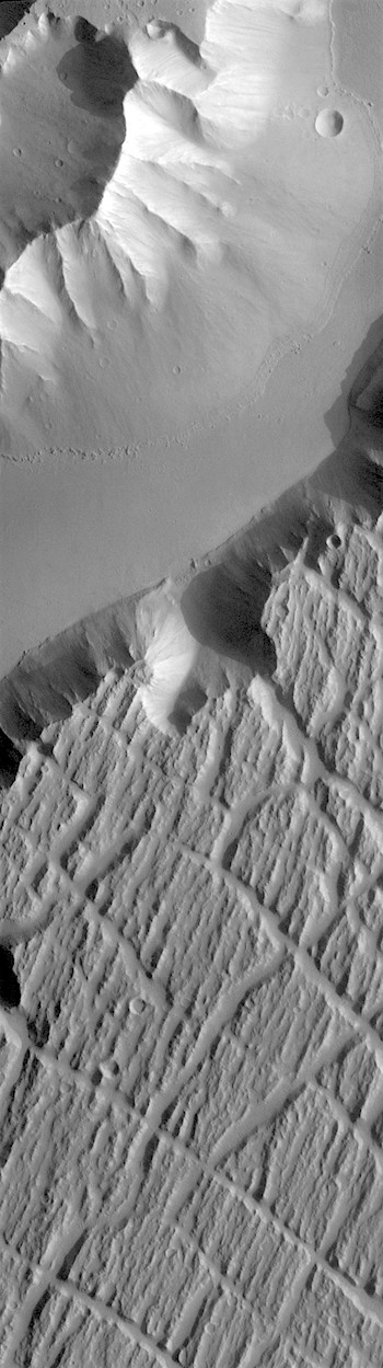 Flood-scoured island in Kasei Valles (THEMIS_IOTD_20180709)