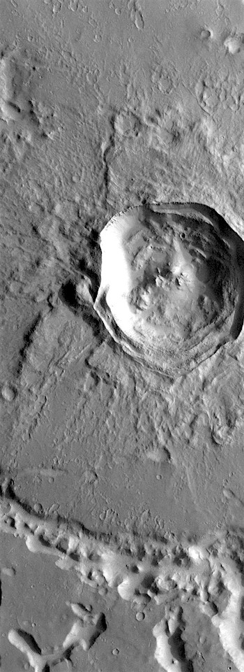 Tectonically distorted crater (THEMIS_IOTD_20180723)
