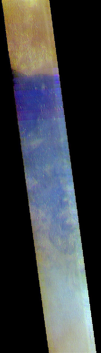 Amazonis Planitia in false color (THEMIS_IOTD_20180921)