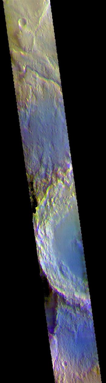 Arabia Terra landscape in false color (THEMIS_IOTD_20180924)