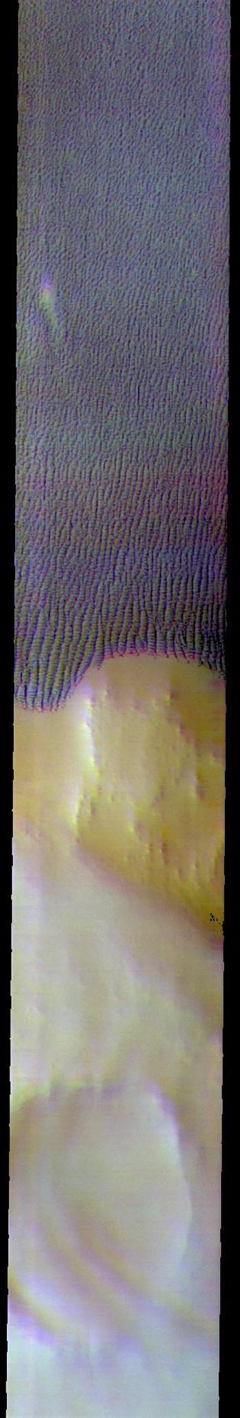 Escorial Crater and polar dunes (THEMIS_IOTD_20180925)